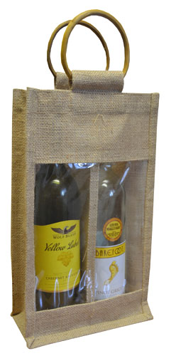 Double Bottle Jute Bags-0