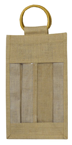 Double Bottle Jute Bags-3093