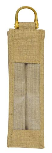 Single Bottle Jute Bags-3087