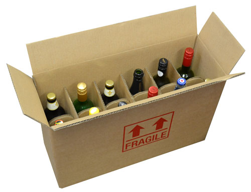 12 Bottle Cardboard Wine Box-0